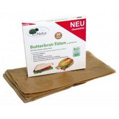 Butterbrot-Tüten, chemiefrei, 19,5X35X6cm, 30Stk
