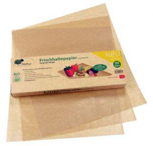 Pergamyn Frischhaltepapier chemiefrei, silikonfrei, unbeschichtet