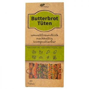 Butterbrot-Tüten, chemiefrei, ungebleicht 10,5X23X6cm, 50Stk